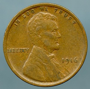 1916 Lincoln Cent Choice XF-45