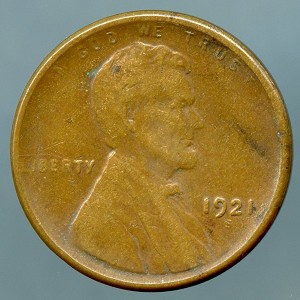 1921-S Lincoln Cent XF-40