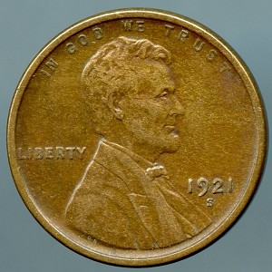 1921 S Lincoln Cent XF 40