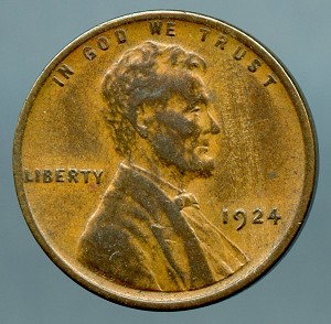 1924 Lincoln Cent XF 40