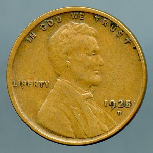 1925 D Lincoln Cent XF 40
