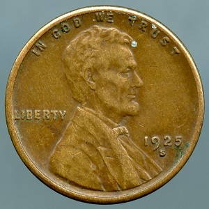 1925 S Lincoln Cent XF-40