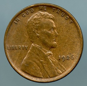 1926 Lincoln Cent Choice AU-55
