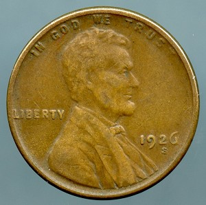 1926 S Lincoln Cent VF-20
