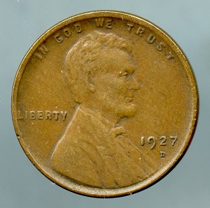 1927 D Lincoln Cent XF 40