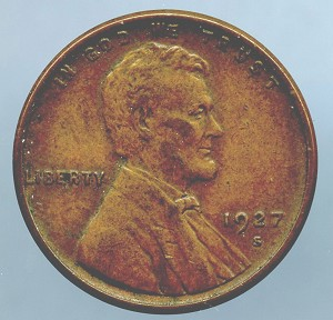 1927 S Lincoln Cent XF 40