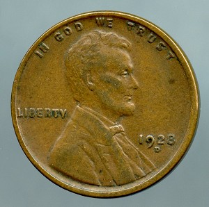 1928 D Lincoln Cent XF 40