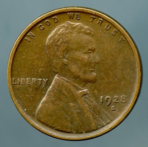 1928 S Lincoln Cent XF-40