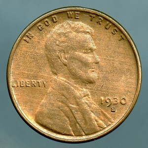 1930 S Lincoln Cent B.U. MS-60 Brown
