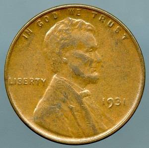 1931 Lincoln Cent Choice AU-55