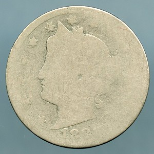 1886 Liberty Nickel Poor