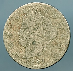 1887 Liberty Nickel Cull