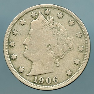 1906 Liberty Nickel Fine