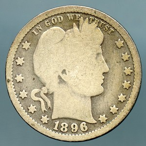 1896 Barber Quarter Good
