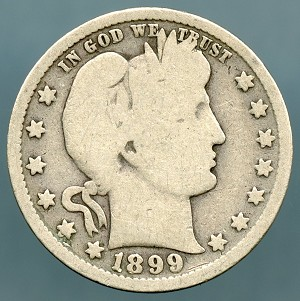 1899 Barber Quarter Good