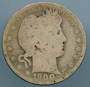1900 Barber Quarter About Good