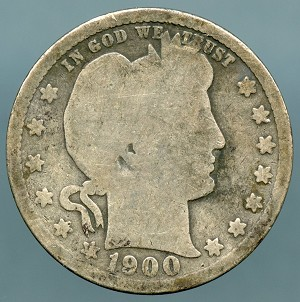 1900 Barber Quarter Good