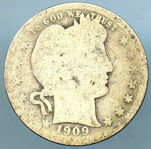 1909 Barber Quarter About Good