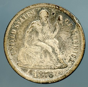 1876   Seated Dime Good