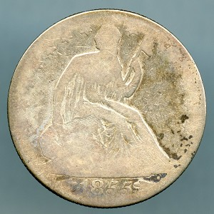 1855 O Liberty Seated Half Dollar About Good