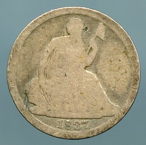 1837 Seated Half Dime Poor