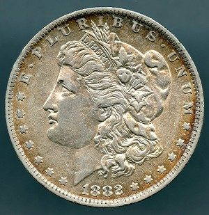 1882 O/S Morgan Dollar Choice AU-50