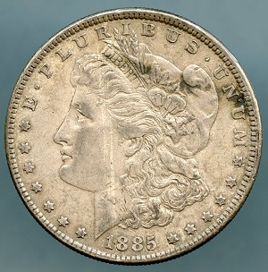 1885 Morgan Dollar Choice XF-45