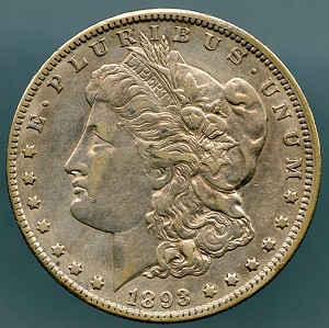 1893 O Morgan Dollar Choice XF-45