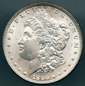 1896 Morgan Dollar MS 63