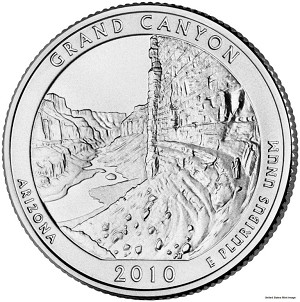2010-D Grand Canyon National Park Quarter - Arizona  MS63