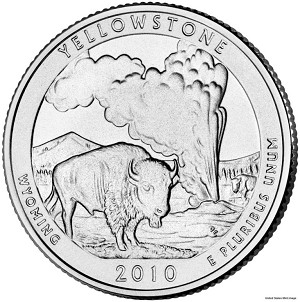 2010-P Yellowstone National Park Quarter - Wyoming MS63
