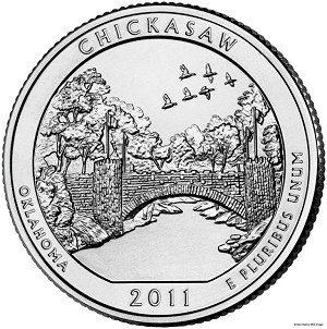 2011-P Chickasaw National Recreation Area Quarter - Oklahoma MS63
