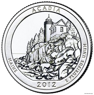 2012-D Acadia National Park Quarter - Maine MS63