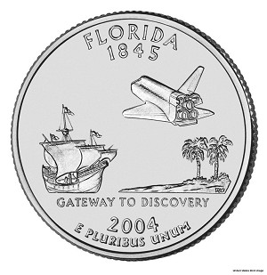 2004 P Florida Statehood Quarter P Mint MS-63