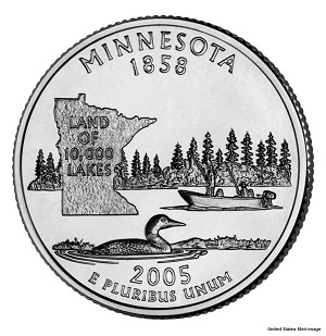 2005 P Minnesota Statehood Quarter P Mint MS-63