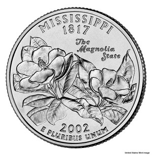 2002 D Mississippi Statehood Quarter D Mint MS-63