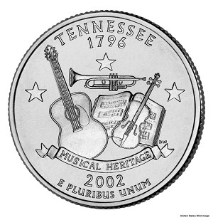 2002 P Tennessee Statehood Quarter P Mint MS-63
