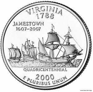 2000 P Virginia Statehood Quarter P Mint MS-63