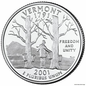 2001 D Vermont Statehood Quarter D Mint MS-63