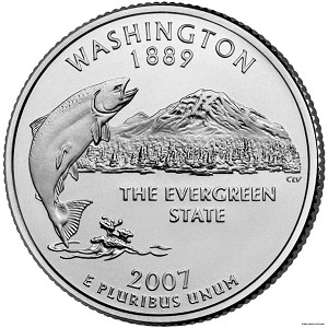 2007 D Washington Statehood Quarter D Mint MS-63