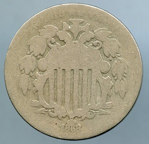 1868 Shield Nickel AG