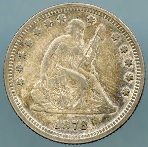 1878 Seated Quarter Choice XF-45