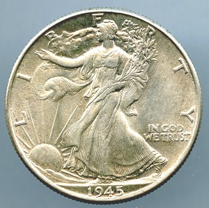 1945 Walking Liberty Half Dollar MS-63