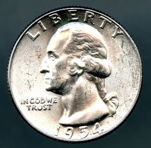 1954 Washington Quarter MS 63