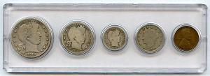 1910 United States Year Set - 5 Coin Set