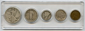 1917 United States Year Set - 5 Coin Set
