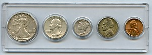 1942 United States Year Set - 5 Coin Set
