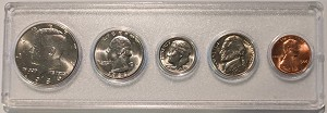 1986 United States Year Set - 5 Coin Set
