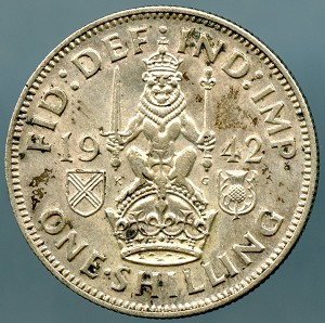 Great Britain 1942 1 Shilling KM 854 XF